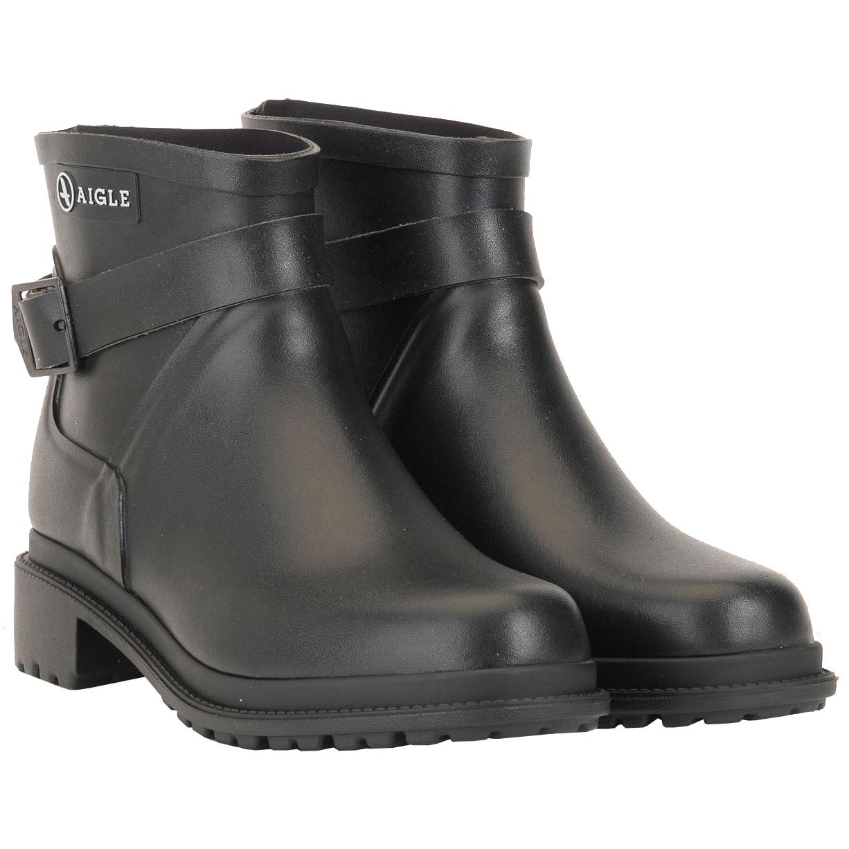 3aec066ef Aigle Macadames Low, Ladies Ankle Boot in Black | Wellies.com